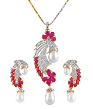 Ameira Red Pendant Set